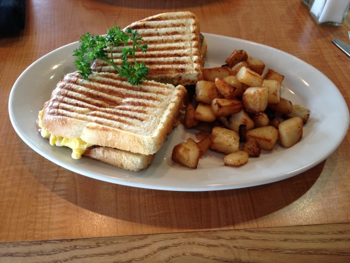 Steak & Cheese Panini at Sizzling Skillet