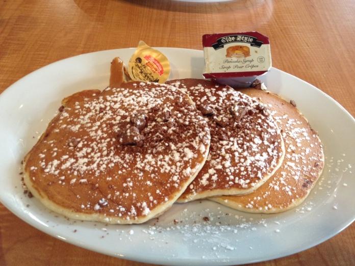 Toblerone Pancakes at Sizzling Skillet