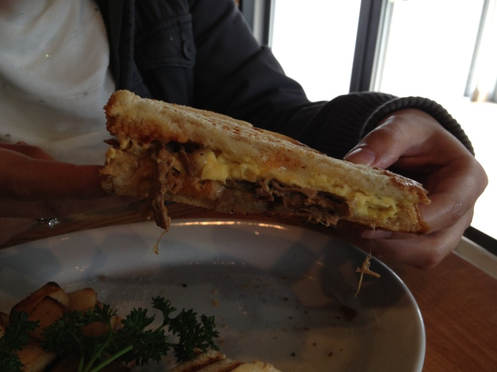 Steak & Cheese Omelette Panini