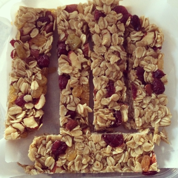Almond, Raisin & Cranberry Granola Bars
